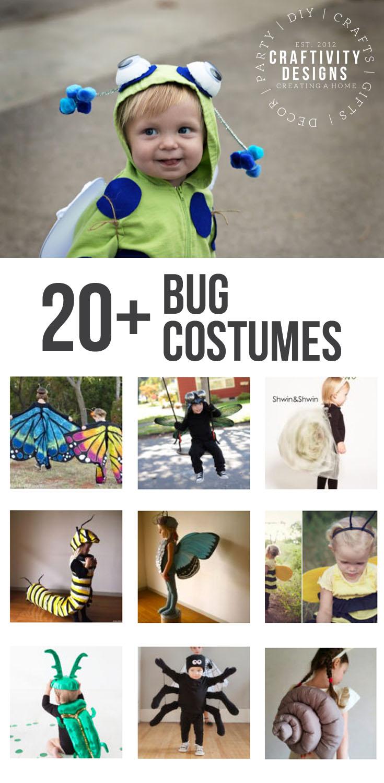 20+ Bug Costume Ideas for Halloween, DIY Costume, Bbay Bug, Butterfly, #Halloween, #HalloweenCostumes, Ladybug, Spider