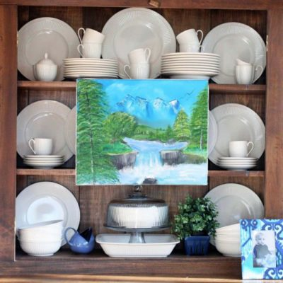 Secret Storage Tips in a Dining Cabinet