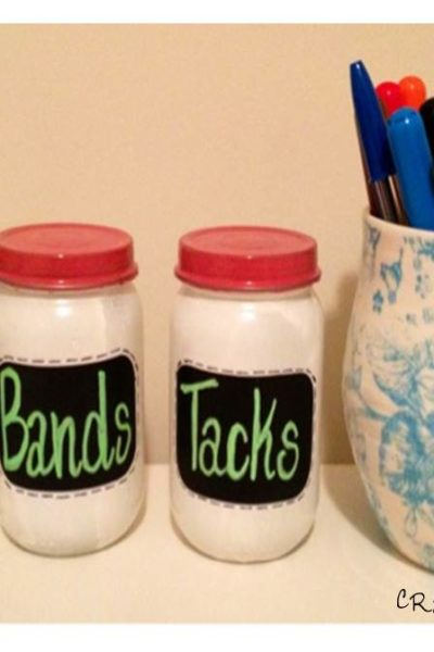 Anthropologie Inspired: Chalkboard Jars