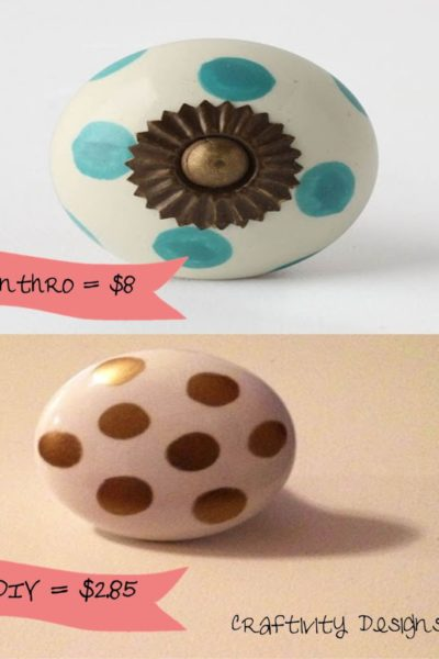 Anthropologie Inspired: Polka Dot Knobs
