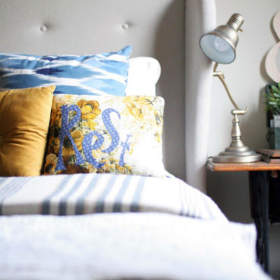 Anthropologie Inspired: Vintage Fabric Pillow