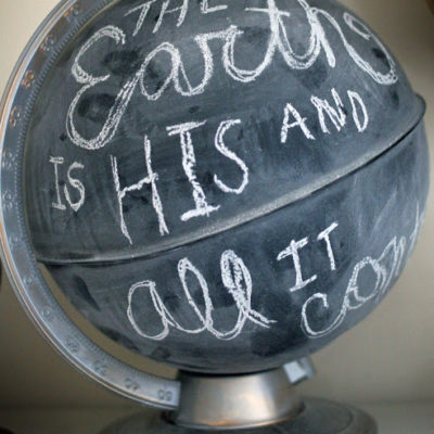 Anthropologie Inspired: Chalkboard Globe