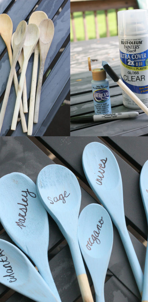 Wooden Spoon Herb Marker, DIY Herb Marker, Flower Marker, Vegetable Marker, by @CraftivityD