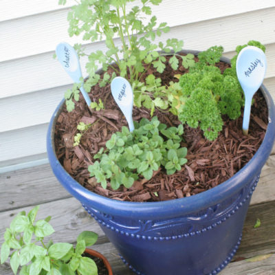 Painted Herb Planters {& some tips from a farmer}
