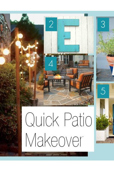 A Quick Patio Makeover