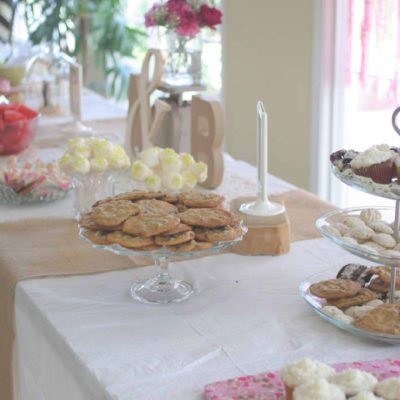 Vintage Pink & Burlap Bridal Shower