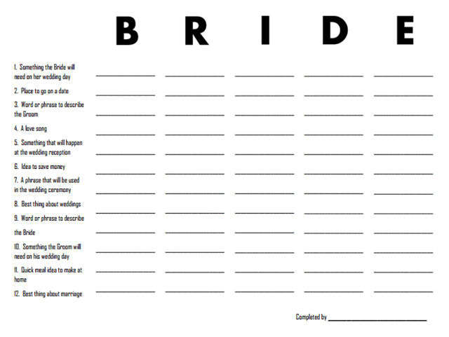 Bridal Shower Games with Free Printables! by @CraftivityD