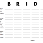 Vintage Bridal Shower Games | Scattergories Printable + More