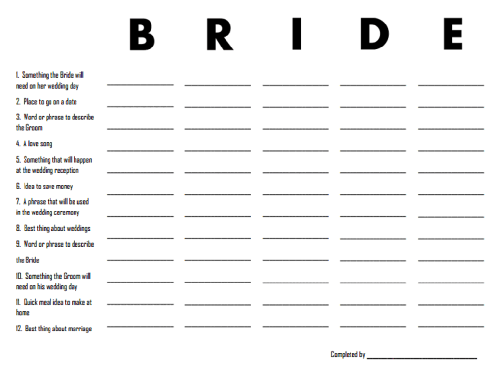 bride scattergories1 Top Result 60 Best Of Templates for Bridal Shower Games Pic 2017 Phe2