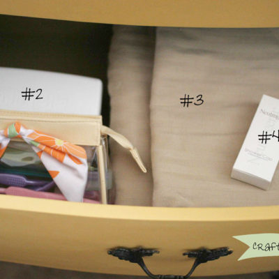 Nightstand Organization for a Guest Bedroom