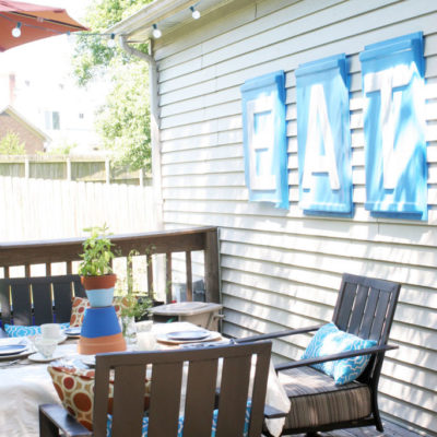 Quick Patio Makeover: The Reveal