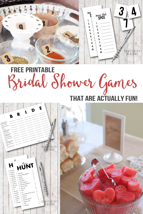 free printable bridal shower games that are actually fun