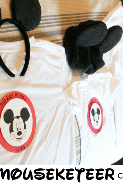 DIY Family Mouseketeer Costumes