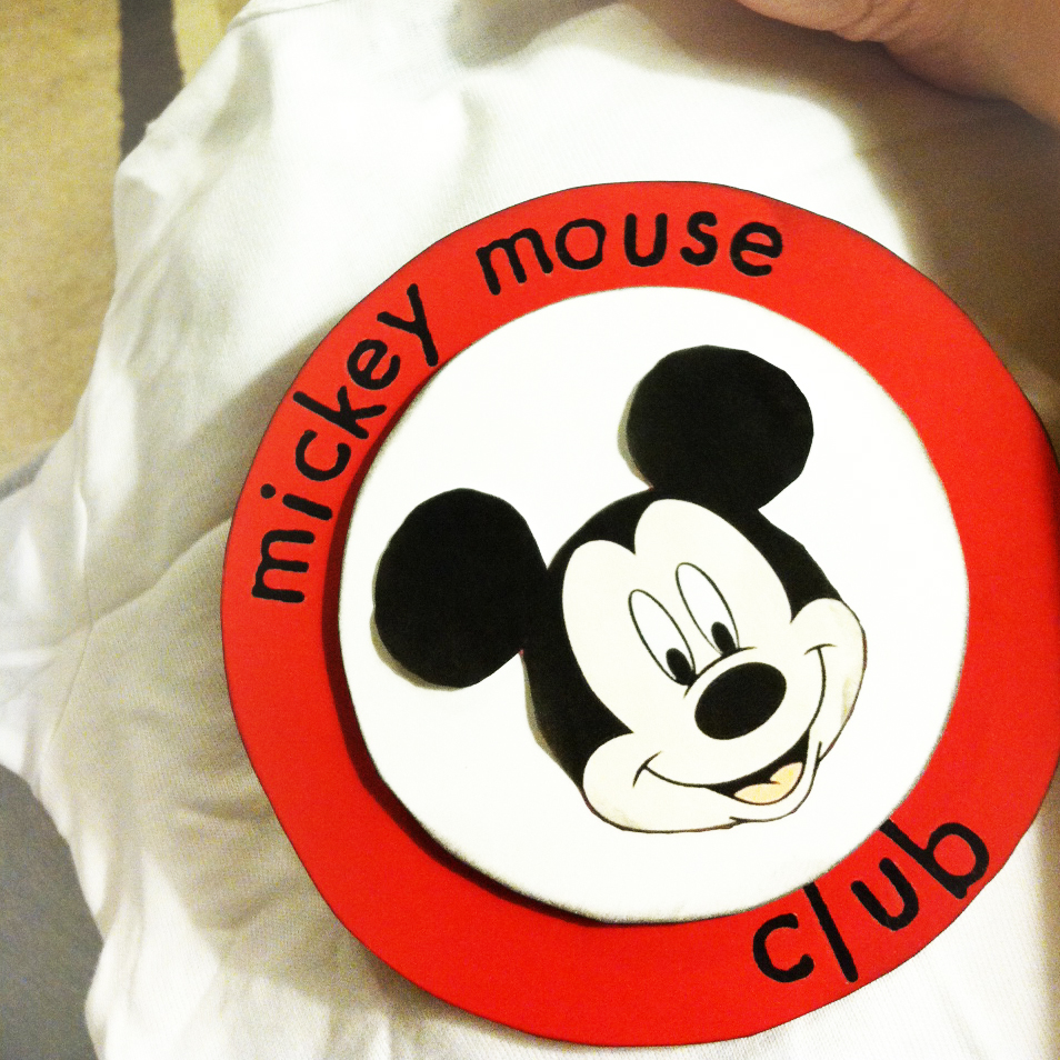 mouseketeer logo on mickey mouse club tshirt