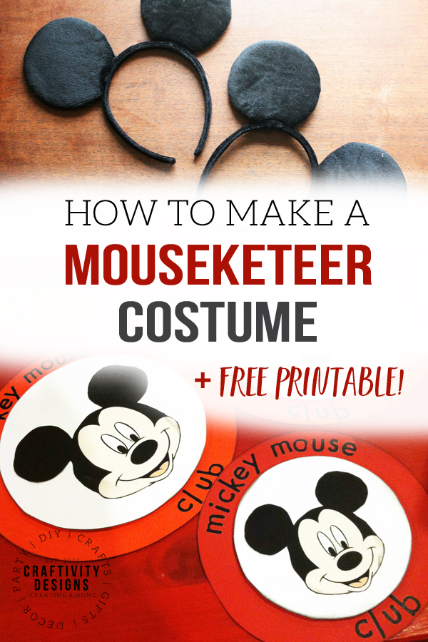 how to make a mouseketeer costume or mickey mouse club costume (+ free printable!)