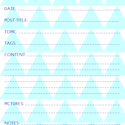 Day 29: Blog Post Planner