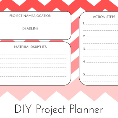 Day 30: DIY Project Planner