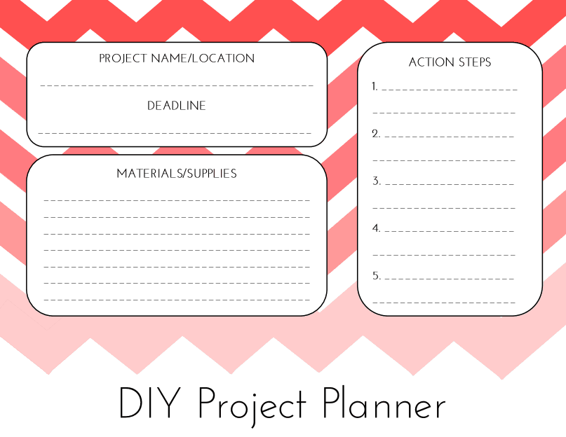 Day 30 Diy Project Planner