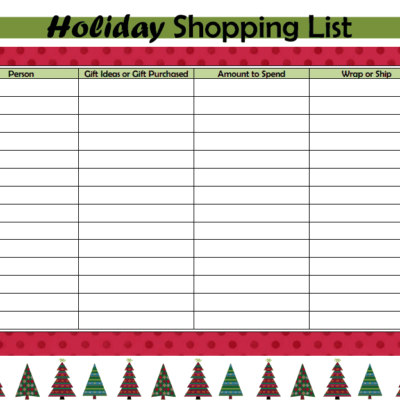 Day 31: Holiday Shopping List