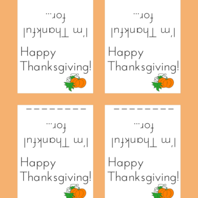 Day 25: Thanksgiving Place Cards