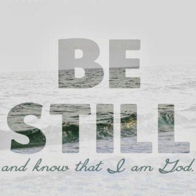 Day 1: Be Still