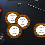 "halloween gift tags with the phrase ""trick or treat"""