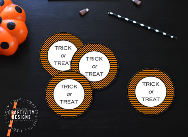 halloween gift tags with the phrase