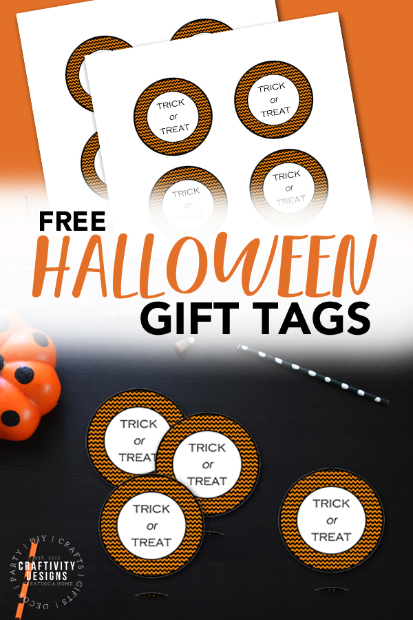 free halloween gift tags for trick or treat bags