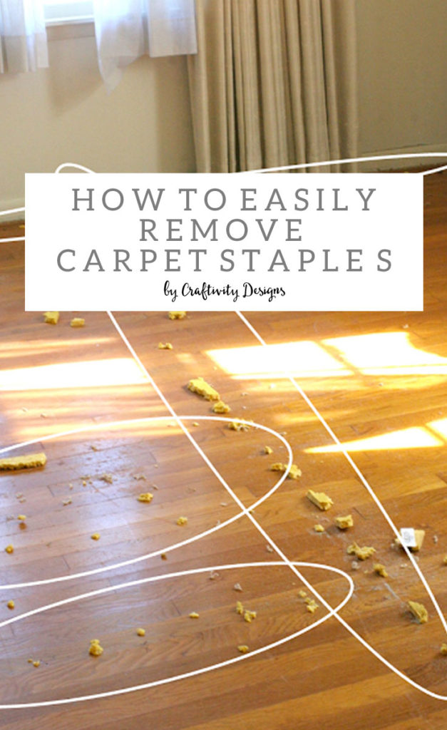 how to remove carpet staples from wood floors the easy way craftivity designs. Black Bedroom Furniture Sets. Home Design Ideas