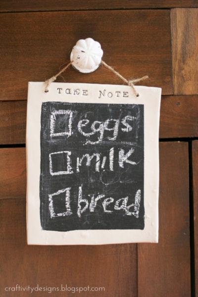 Make a Clay Chalkboard