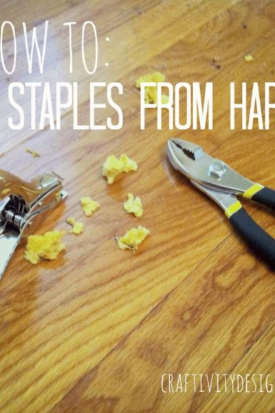 How to Remove Carpet Staples from Wood Floors | The Easy Way!