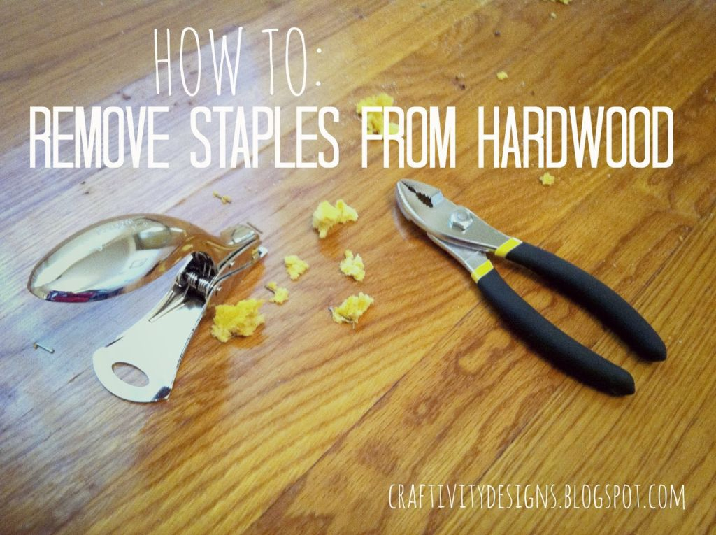 How to Remove Carpet Staples - the Easy Way! One special tool made this job - How To Remove Carpet Staples From Wood Floors The Easy Way