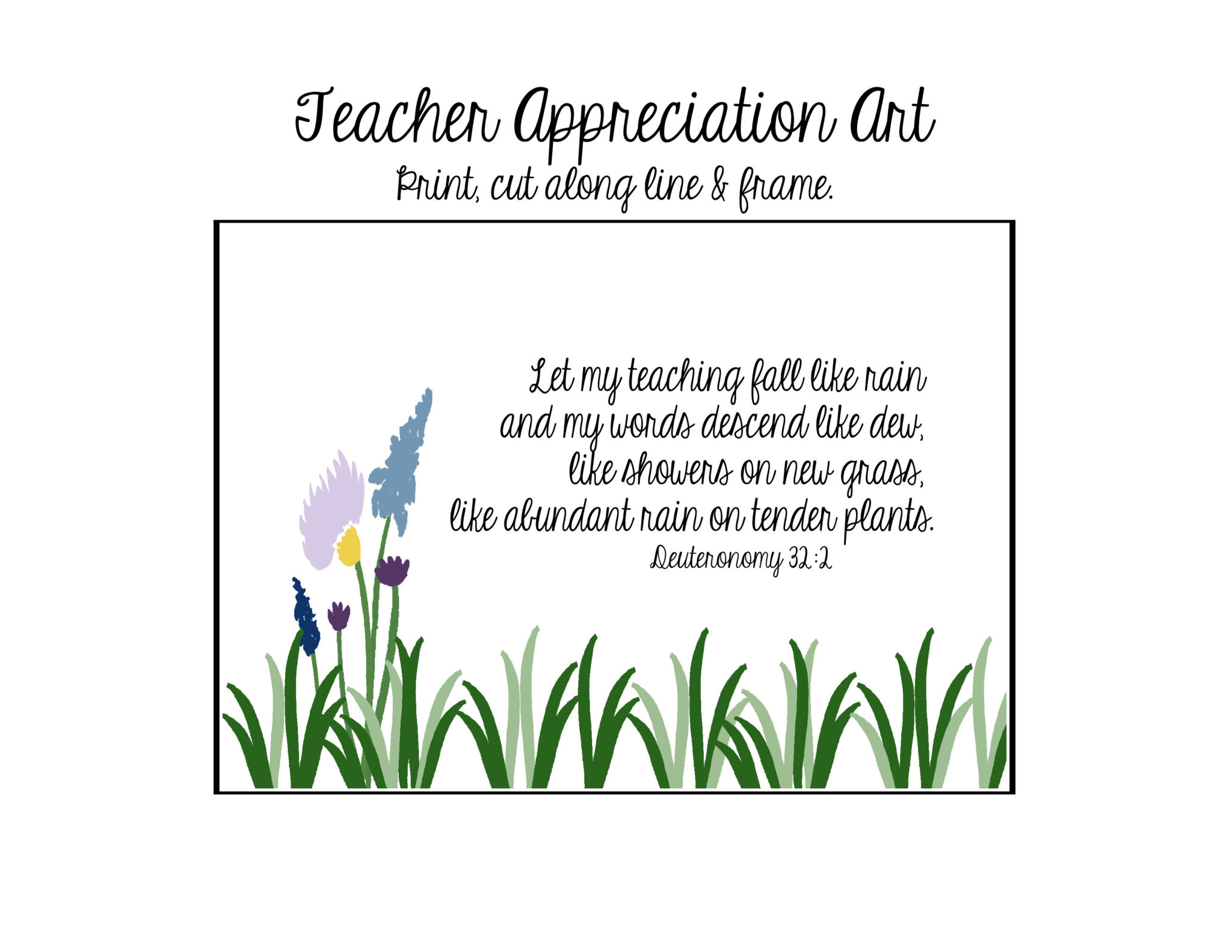 It's just a picture of Refreshing Teacher Appreciation Printable Card