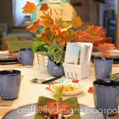 A Thanksgiving Table with Natural Elements + Sentimental Details