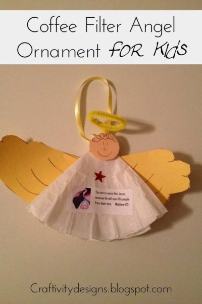 Kids Craft: Coffee Filter Angel Ornaments