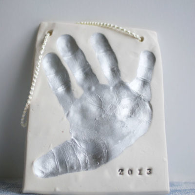 Clay Handprint Ornament