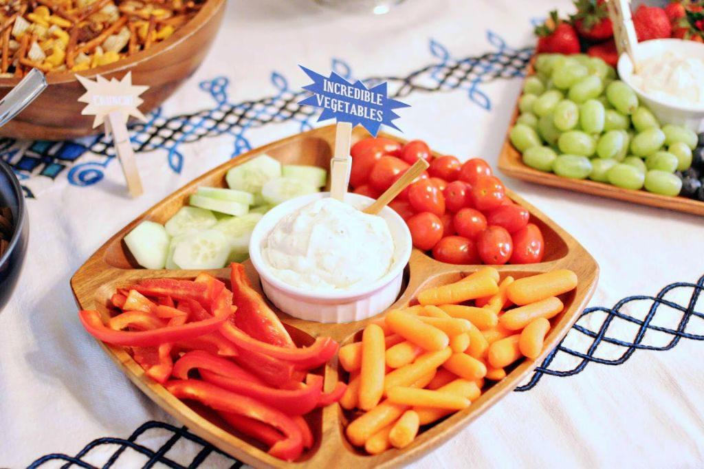Incredible Vegetables - Superhero Party Food Labels