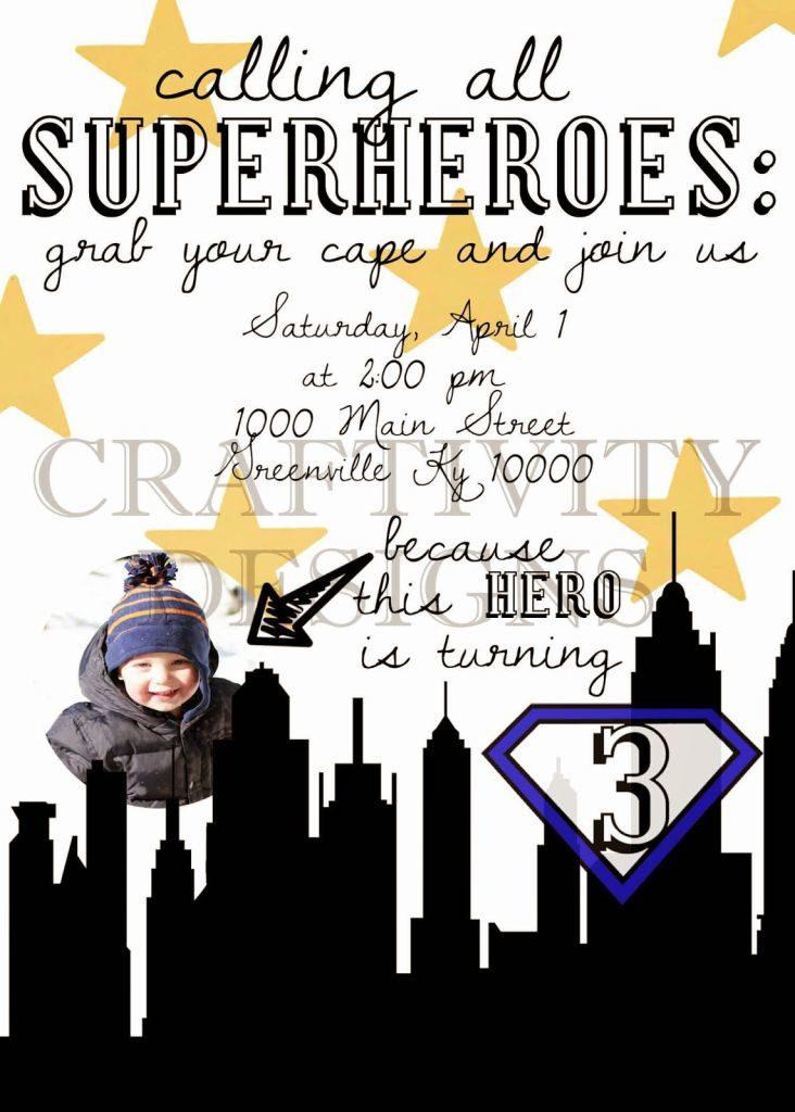 Superhero Birthday Invitation - Calling all Superheroes!