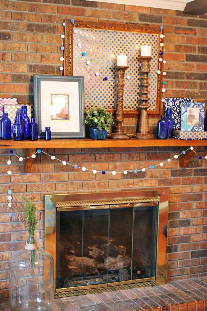 blue party decorations