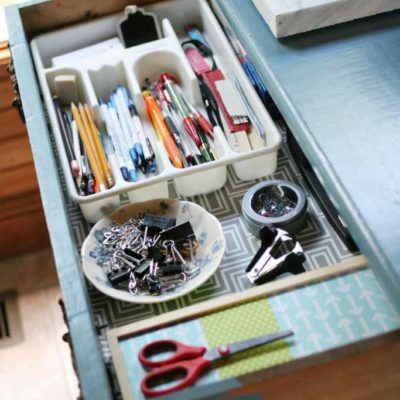 """5 Office Organization Tips & a """"New"""" Piece of Furniture"""