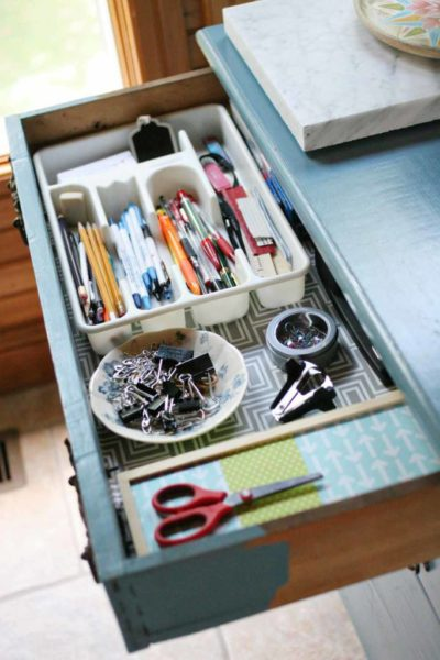 "5 Office Organization Tips & a ""New"" Piece of Furniture"