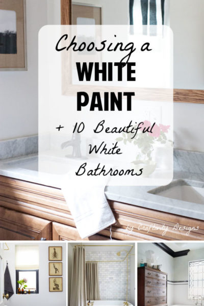 Painting a Room White // 10 Beautiful White Bathrooms