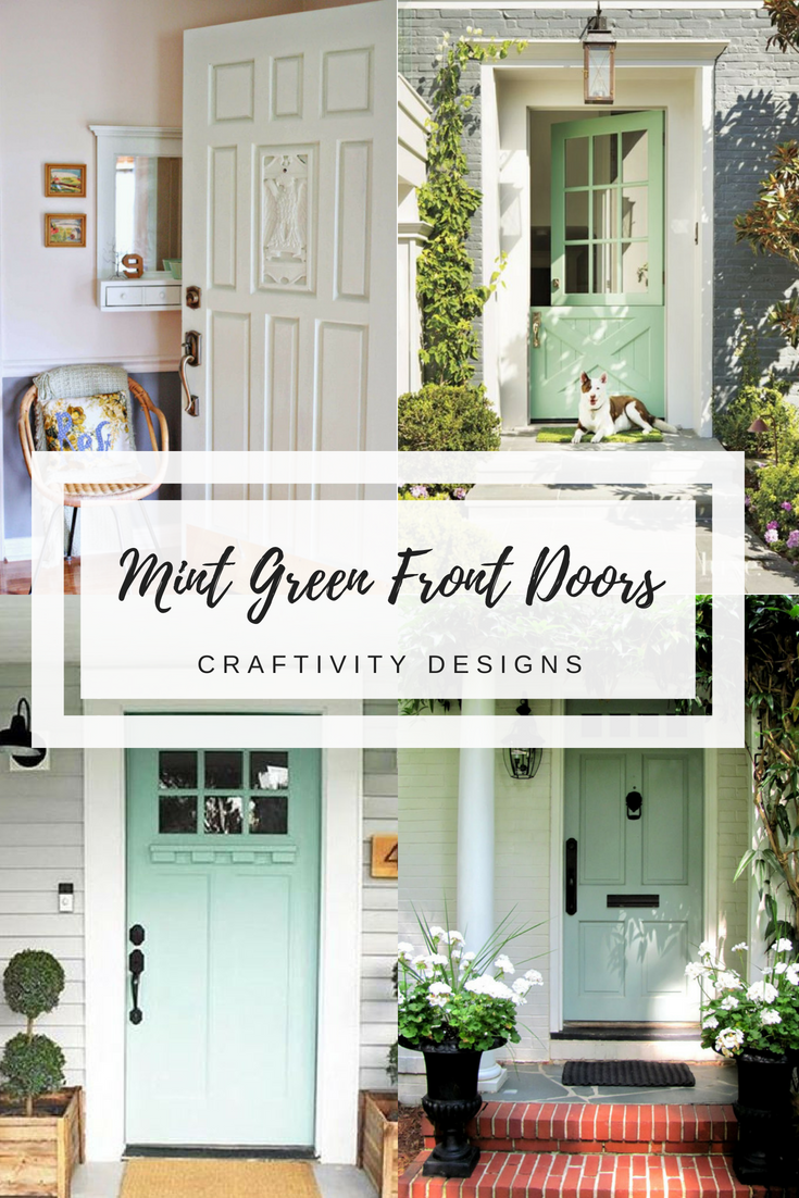 10 More Gorgeous Mint Green Front Doors