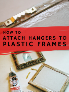 how to attach a hanger to a plastic frame