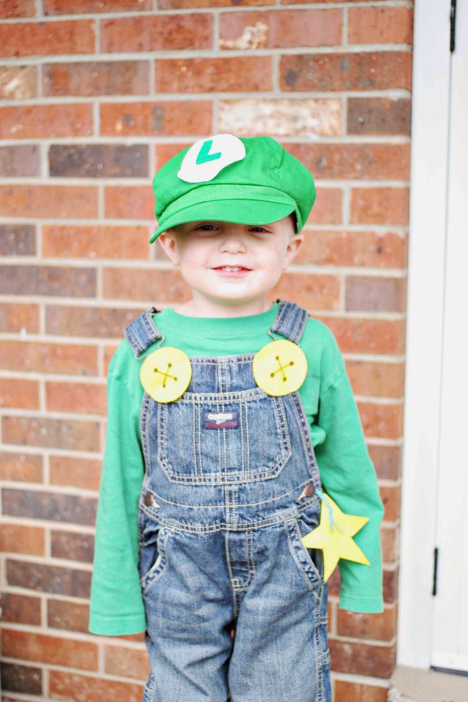 luigi costume on little boy