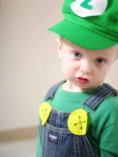 diy luigi costume for child