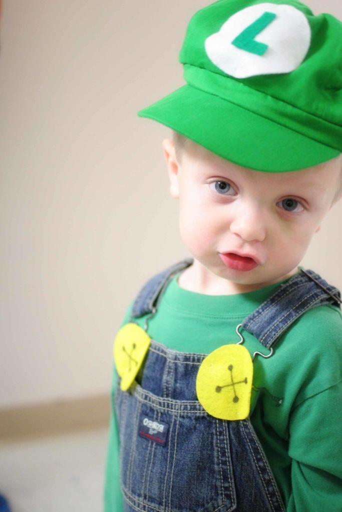 diy luigi costume for child