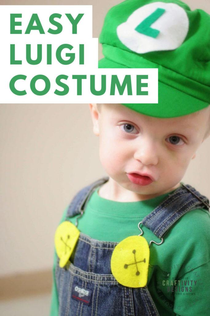 easy luigi costume on little boy