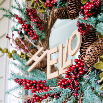 "A ""Welcome""-ing Wreath // & Simple Wreath Updates"