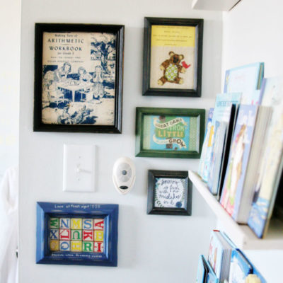 """A Mini Gallery Wall and Decorating the """"Forgotten"""" Spots"""
